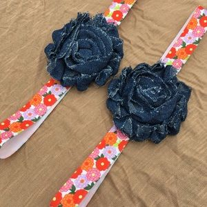 Other - Baby Girl Headband Flowers Denim Hair Accessories